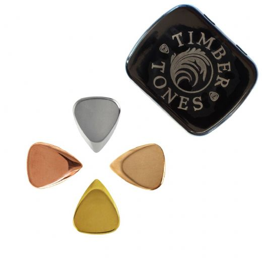 Metal Tones Mini Mixed Tin of 4 Guitar Picks